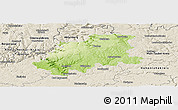 Physical Panoramic Map of Neckar-Odenwald-Kreis, shaded relief outside