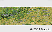 Satellite Panoramic Map of Neckar-Odenwald-Kreis
