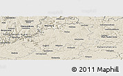 Shaded Relief Panoramic Map of Neckar-Odenwald-Kreis