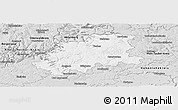 Silver Style Panoramic Map of Neckar-Odenwald-Kreis