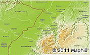 Physical 3D Map of Rastatt