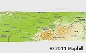 Physical Panoramic Map of Rastatt
