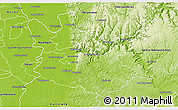 Physical 3D Map of Rhein-Neckar-Kreis