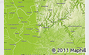 Physical Map of Rhein-Neckar-Kreis