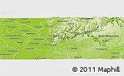 Physical Panoramic Map of Rhein-Neckar-Kreis