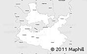 Silver Style Simple Map of Rhein-Neckar-Kreis
