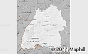 Gray Map of Baden-Württemberg