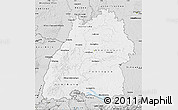 Silver Style Map of Baden-Württemberg