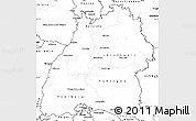 Blank Simple Map of Baden-Württemberg