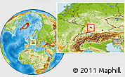 Physical Location Map of Esslingen, highlighted parent region