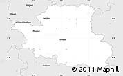 Silver Style Simple Map of Esslingen