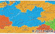Political 3D Map of Heilbronn
