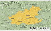 Savanna Style 3D Map of Heilbronn