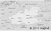 Silver Style 3D Map of Heilbronn