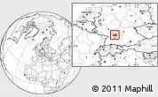 Blank Location Map of Heilbronn
