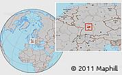 Gray Location Map of Heilbronn