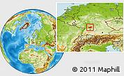 Physical Location Map of Heilbronn