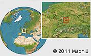 Satellite Location Map of Heilbronn