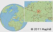 Savanna Style Location Map of Heilbronn