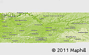 Physical Panoramic Map of Heilbronn