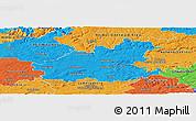 Political Panoramic Map of Heilbronn