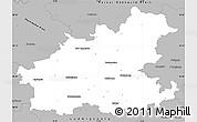 Gray Simple Map of Heilbronn