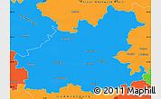 Political Simple Map of Heilbronn