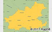 Savanna Style Simple Map of Heilbronn