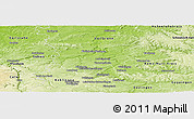 Physical Panoramic Map of Ludwigsburg