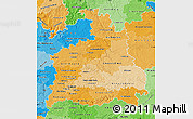 Political Shades Map of Stuttgart
