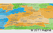 Political Shades Panoramic Map of Stuttgart
