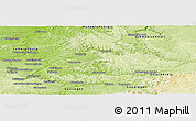 Physical Panoramic Map of Rems-Murr-Kreis