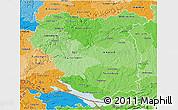 Political Shades 3D Map of Tübingen