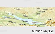 Physical Panoramic Map of Bodenseekreis