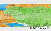 Political Shades Panoramic Map of Tübingen