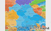 Political Shades 3D Map of Bayern