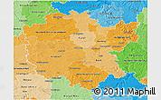 Political Shades 3D Map of Mittelfranken