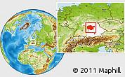 Physical Location Map of Mittelfranken, highlighted parent region