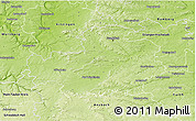 Physical 3D Map of Neustadt an der Aisch-Bad Windsheim