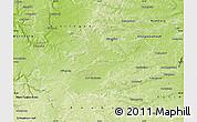 Physical Map of Neustadt an der Aisch-Bad Windsheim
