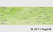 Physical Panoramic Map of Neustadt an der Aisch-Bad Windsheim
