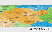Political Shades Panoramic Map of Mittelfranken
