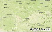 Physical 3D Map of Weißenburg-Gunzenhausen