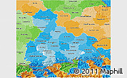 Political Shades 3D Map of Oberbayern