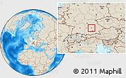 Savanna Style Location Map of Ingolstadt