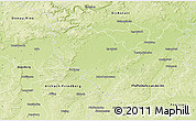 Physical 3D Map of Neuburg-Schrobenhausen