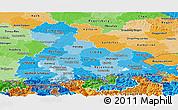 Political Shades Panoramic Map of Oberbayern