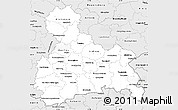 Silver Style Simple Map of Oberbayern
