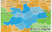 Political Shades 3D Map of Oberfranken