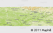 Physical Panoramic Map of Coburg